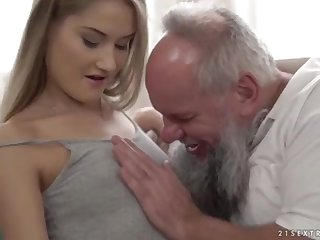 Nubile ultra-cutie vs older grandfather - Tiffany Tatum added to Albert