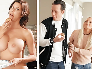 Go steady with fucked GF's mom with huge boobs