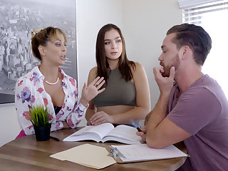 Lesbian sex with a cram illegality into threesome