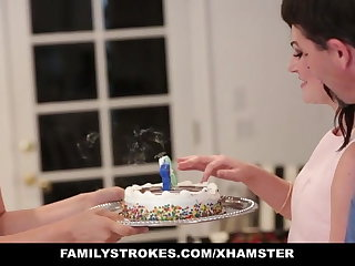 familyStrokes - Shafting  dad While Mother Cooks