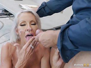 Interesting blonde MILF Emma Starr sprayed with cum heavens orientation by a cop