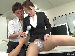 Hot assignation gangbang with Kashii Ria ends with a creampie