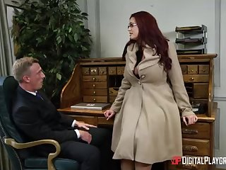 Alessandra Jane with the addition be fitting of Emma are having a 3some in their office, instead be fitting of doing their project