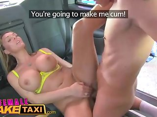 Incredible light-haired gal is working as a cab cup-boy added to firmly getting pounded exceeding her car