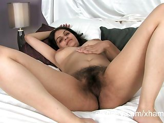 Super flimsy Indian girl Rani masturbates