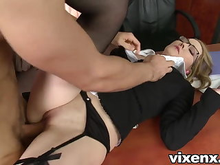 Bad secretary punished with spanking with an increment of anal sex