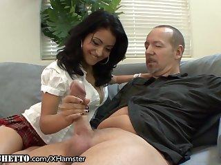 Hairy Latina Schoolgirl Wants Old Teachers Dick