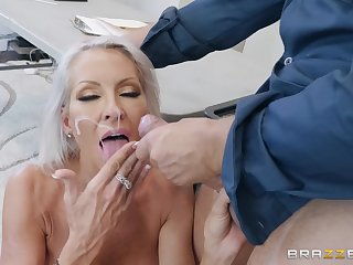Interesting blonde MILF Emma Starr sprayed with cum heavens orientation by a cop