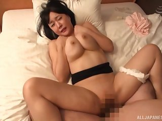 Busty Japanese mom endures missionary hardcore at lodging