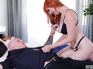 Eye catching redhead Lauren Phillips is so into riding sloppy cock