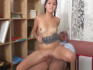 Sweet suitor is gratifying teacher here improve her grades