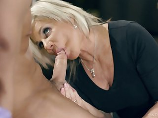 Order about blonde housewife Payton Stronghold feels good during steamy doggy fuck
