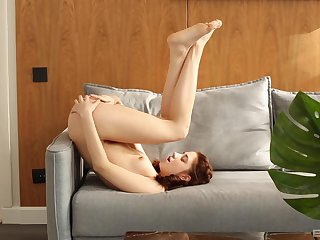 Solo inferior girl Miky Love gets naked with the addition of plays with the brush pussy