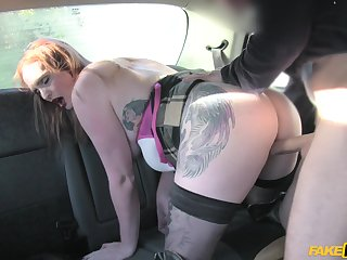 Bitch gets left alone and dirty on dramatize expunge back seat