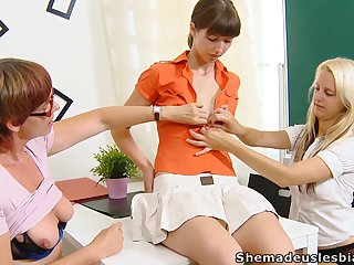 Yoke lesbo students get a lesson of a different kind