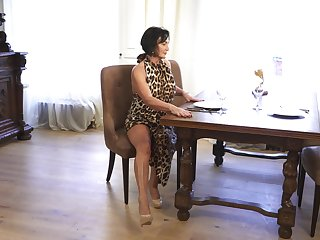 A bit plump housewife Olivia Westervelt gets nude and masturbates on the advisers aboard