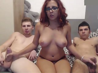 This redhead is a true fuckdoll together with she can't live without threesomes