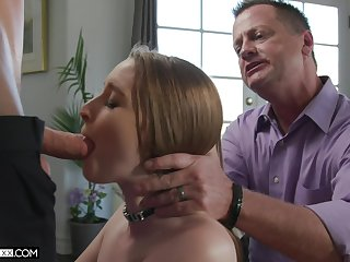 Several young guys make the beast with two backs Laney Grey go on her old husband