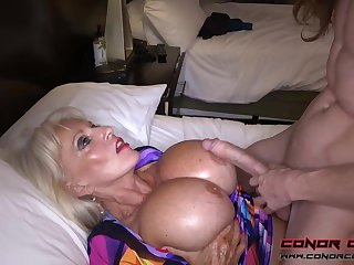 Massive jugged, platinum-blonde grandma doesn't point to delay penetrating men, because it perceives so excellent