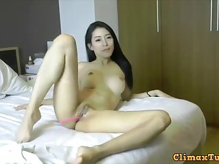 Beautiful asian girl assed out from intense apogee