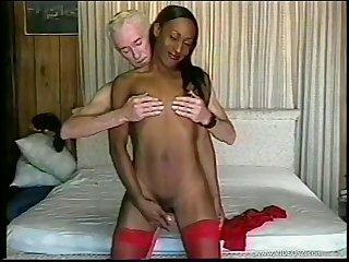 Amateur movie of an old white dude fucking ebony model Tropikal Storm