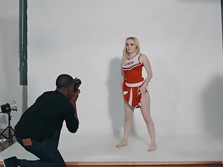 After she was posing be proper of the camera, River Fox got down and vilifying with her black photographer