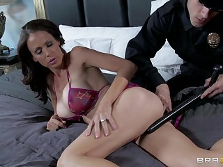 Naughty police office fucks tight-fisted asshole of MILF McKenzie Lee