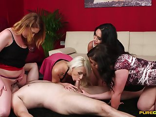 Footjob experience in group scenes with the wives craving to fuck
