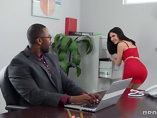 Goods fervency in all directions in a difficulty office for babes Jane Wilde and Rocky Emerson