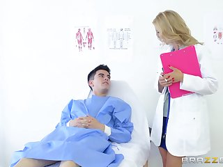 Adult doctor gets this young boy to be wild about her like never before