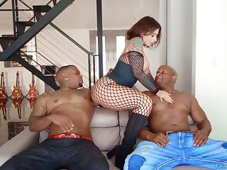 PAWG Ivy Lebelle goes black and gets print penetrated